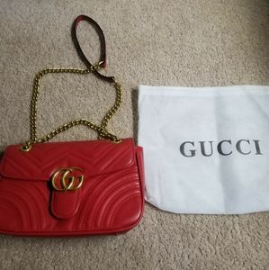 Authentic Gucci Red Marmont Purse